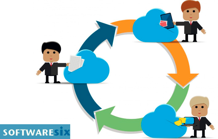 illustration to represent cloud first storage